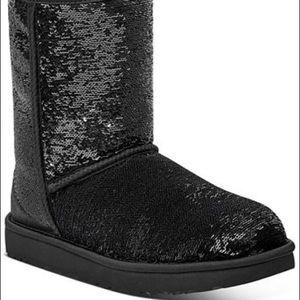 UGG black sequin boots - size 10